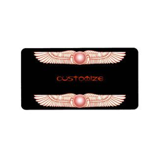 Etiquetas del disco coas alas Anunnaki sumerias de Etiqueta De Dirección