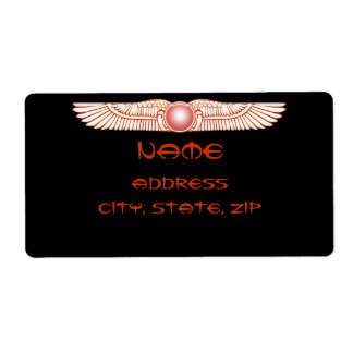Etiquetas del disco coas alas Anunnaki sumerias de Etiquetas De Envío