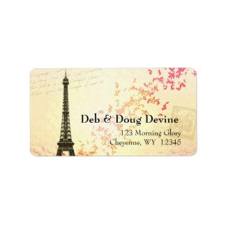 Etiquetas del diseñador de la torre Eiffel del rec Etiquetas De Dirección