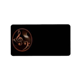 Etiquetas del diseño de la música de Steampunk (me Etiqueta De Dirección