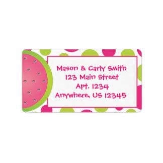 Etiquetas del dot address de la polca de la sandía etiquetas de dirección