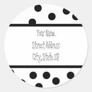 etiquetas del dot address de la polca pegatina redonda