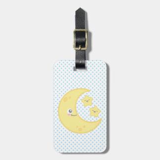 Etiquetas del equipaje de la luna de Kawaii y del Etiquetas De Equipaje