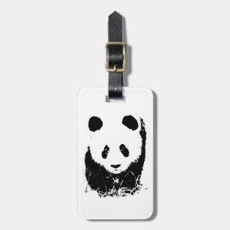 Etiquetas del equipaje de la panda etiquetas de equipaje