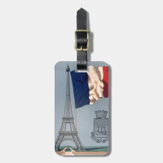 Etiquetas del equipaje de la torre Eiffel del Etiqueta Para Maleta