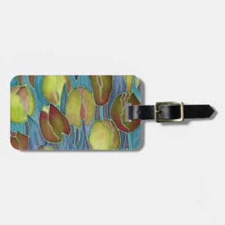 Etiquetas del equipaje de los tulipanes del oro etiquetas para maletas
