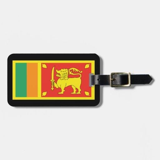 Etiquetas del equipaje de Sri Lanka Etiquetas Maleta