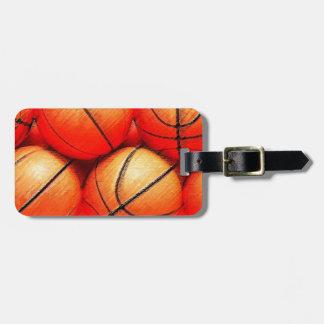 Etiquetas del equipaje del baloncesto