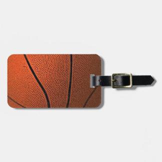 Etiquetas del equipaje del baloncesto etiquetas maletas