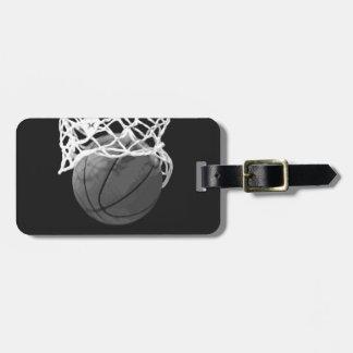 Etiquetas del equipaje del baloncesto etiquetas bolsas