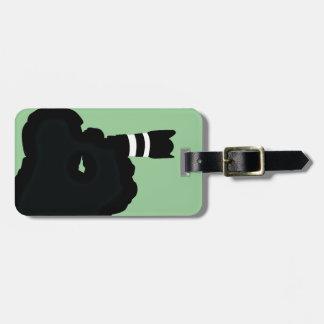 Etiquetas del equipaje del diseño de la fotografía etiquetas de equipaje