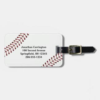 Etiquetas del equipaje del diseño del béisbol etiqueta para maleta