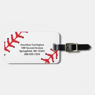 Etiquetas del equipaje del diseño del béisbol etiquetas para equipaje