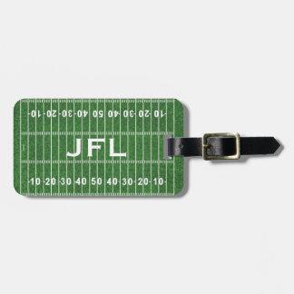 Etiquetas del equipaje del diseño del campo de fút etiqueta para equipaje