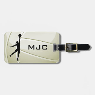 Etiquetas del equipaje del diseño del voleibol etiquetas maletas