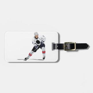 Etiquetas del equipaje del jugador del hockey etiqueta de equipaje