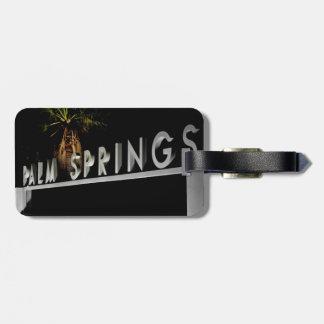 Etiquetas del equipaje del Palm Springs Etiquetas Bolsas