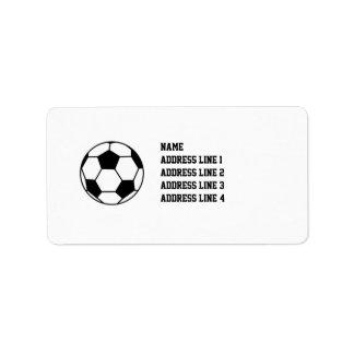 Etiquetas del etiqueta del remite del fútbol del f etiquetas de dirección