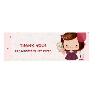 Etiquetas del favor de la chica marchosa plantilla de tarjeta de negocio