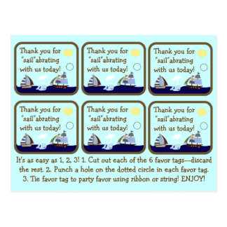 Etiquetas del favor de la fiesta de bienvenida al  postales