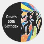 Etiquetas del favor de la fiesta de cumpleaños de  etiquetas redondas