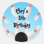 Etiquetas del favor de la fiesta de cumpleaños de pegatinas redondas
