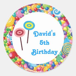 Etiquetas del favor de la fiesta de cumpleaños de