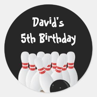 Etiquetas del favor de la fiesta de cumpleaños de pegatina redonda