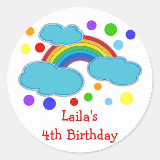 Etiquetas del favor de la fiesta de cumpleaños del pegatina redonda