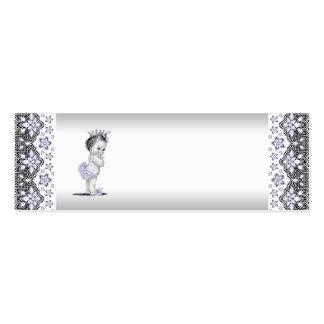 Etiquetas del favor de la princesa fiesta de bienv tarjeta de visita