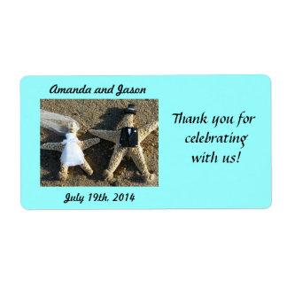Etiquetas del favor del boda de los pares de las e etiqueta de envío