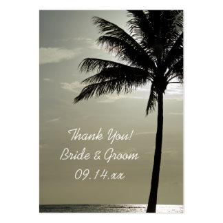 Etiquetas del favor del boda de playa de la tarjetas de visita grandes