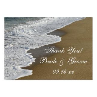 Etiquetas del favor del boda de playa plantilla de tarjeta personal
