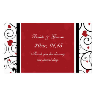 Etiquetas del favor del boda del el día de San Tarjetas De Visita