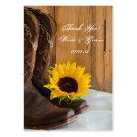 Etiquetas del favor del boda del girasol del país plantillas de tarjeta de negocio