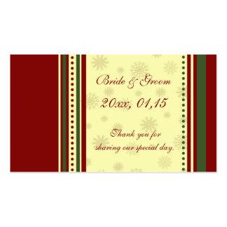 Etiquetas del favor del boda del invierno de los c tarjetas de negocios