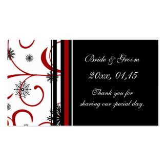 Etiquetas del favor del boda del invierno de los c tarjeta de visita