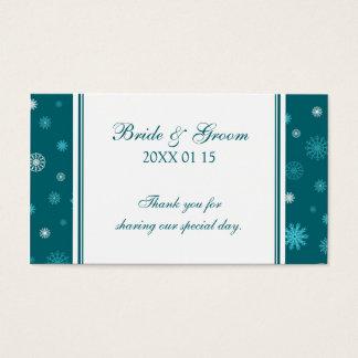 Etiquetas del favor del boda del invierno de los tarjetas de visita