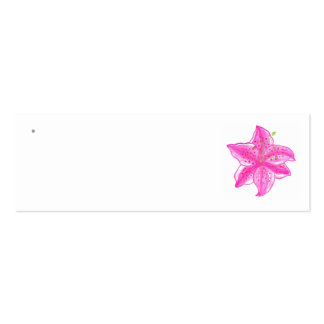 Etiquetas del favor del boda del lirio del Stargaz Tarjeta De Negocio