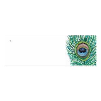 Etiquetas del favor del boda del pavo real tarjeta de negocio