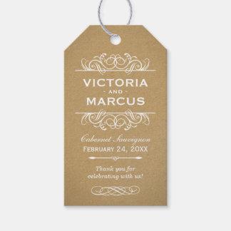 Etiquetas del favor del monograma de la botella de etiquetas para regalos