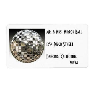 Etiquetas del fiesta de disco de la bola de espejo etiquetas de envío