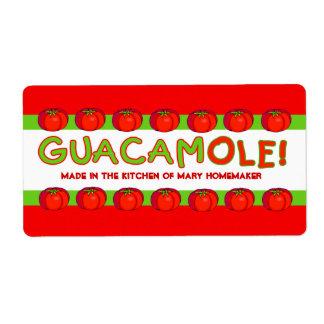 Etiquetas del GUACAMOLE para modificar para requis Etiqueta De Envío