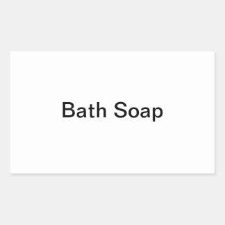 Etiquetas del jabón de baño pegatina rectangular