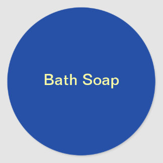 Etiquetas del jabón de baño pegatina redonda