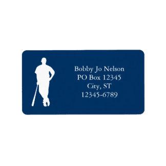 Etiquetas del jugador de béisbol etiquetas de dirección