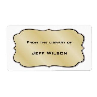 Etiquetas del letrero del libro etiquetas de envío