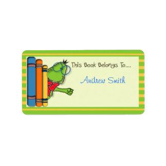 Etiquetas del libro etiqueta de dirección
