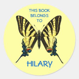 Etiquetas del libro de la mariposa