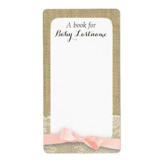 Etiquetas del libro del bebé del cordón y de la ar etiqueta de envío